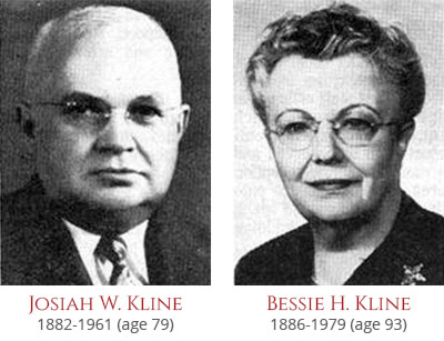 Josiah W. and Bessie H. Kline