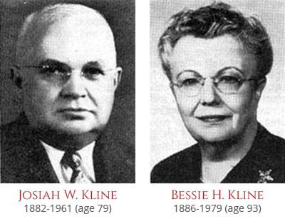 Josiah W. and Bessie H. Kline